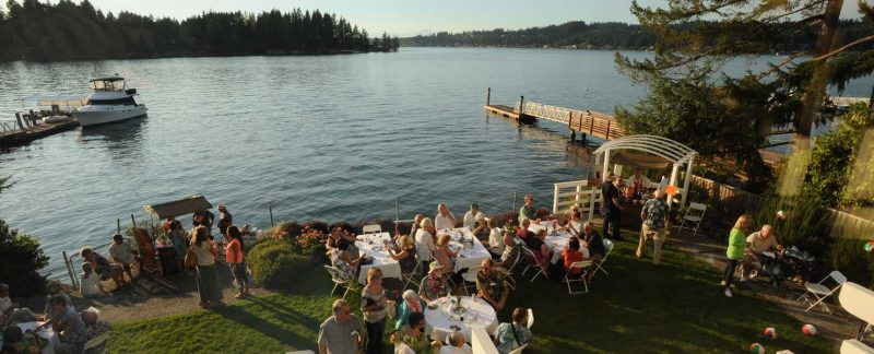 parties and receptions at the Chapel on Echo Bay